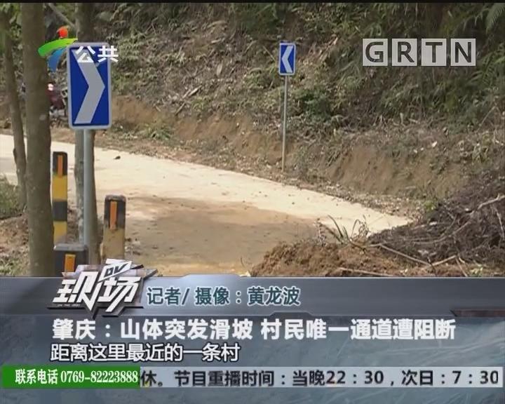 肇庆:山体突发滑坡 村民唯一通道遭阻断