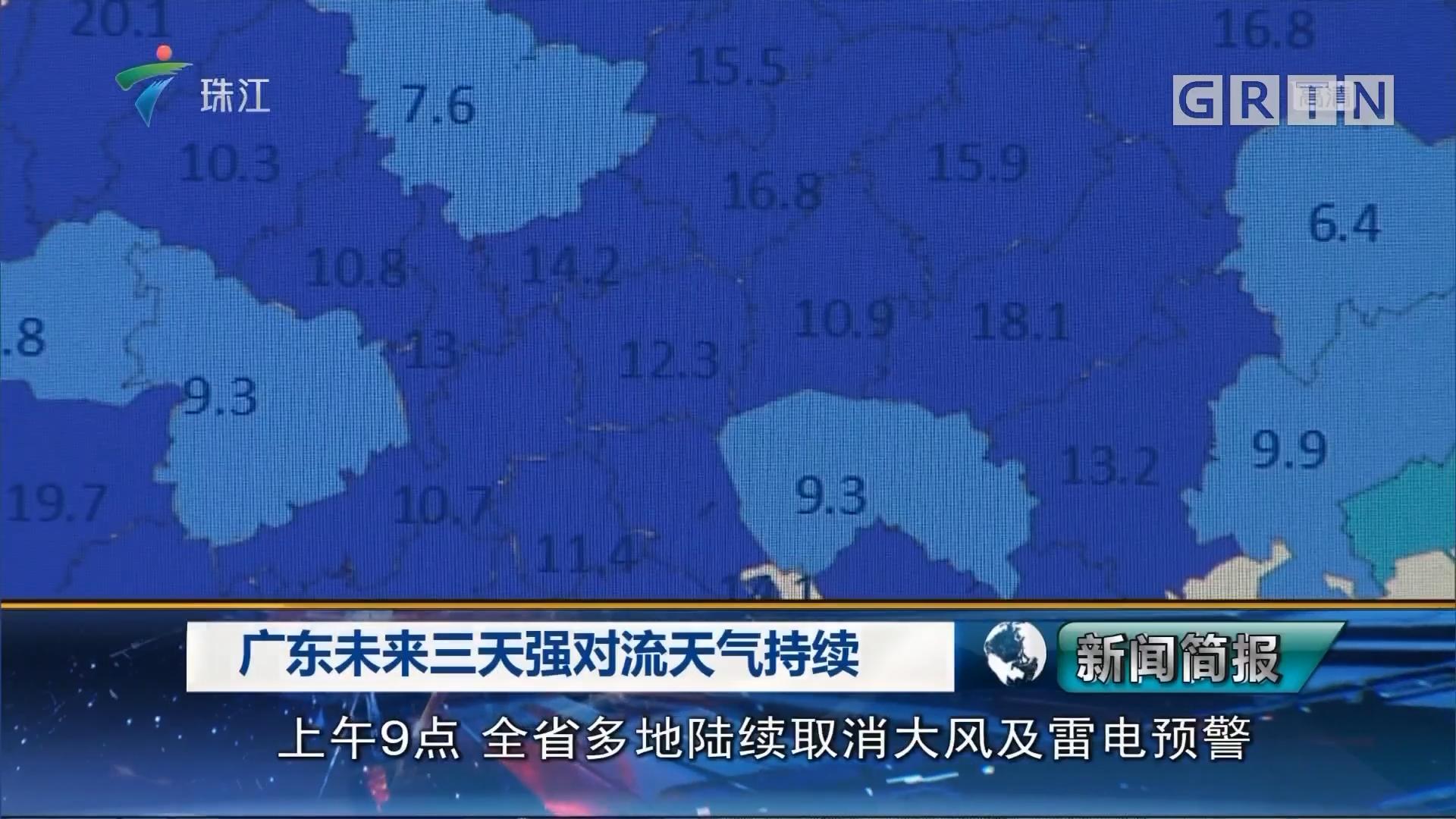 广东未来三天强对流天气持续