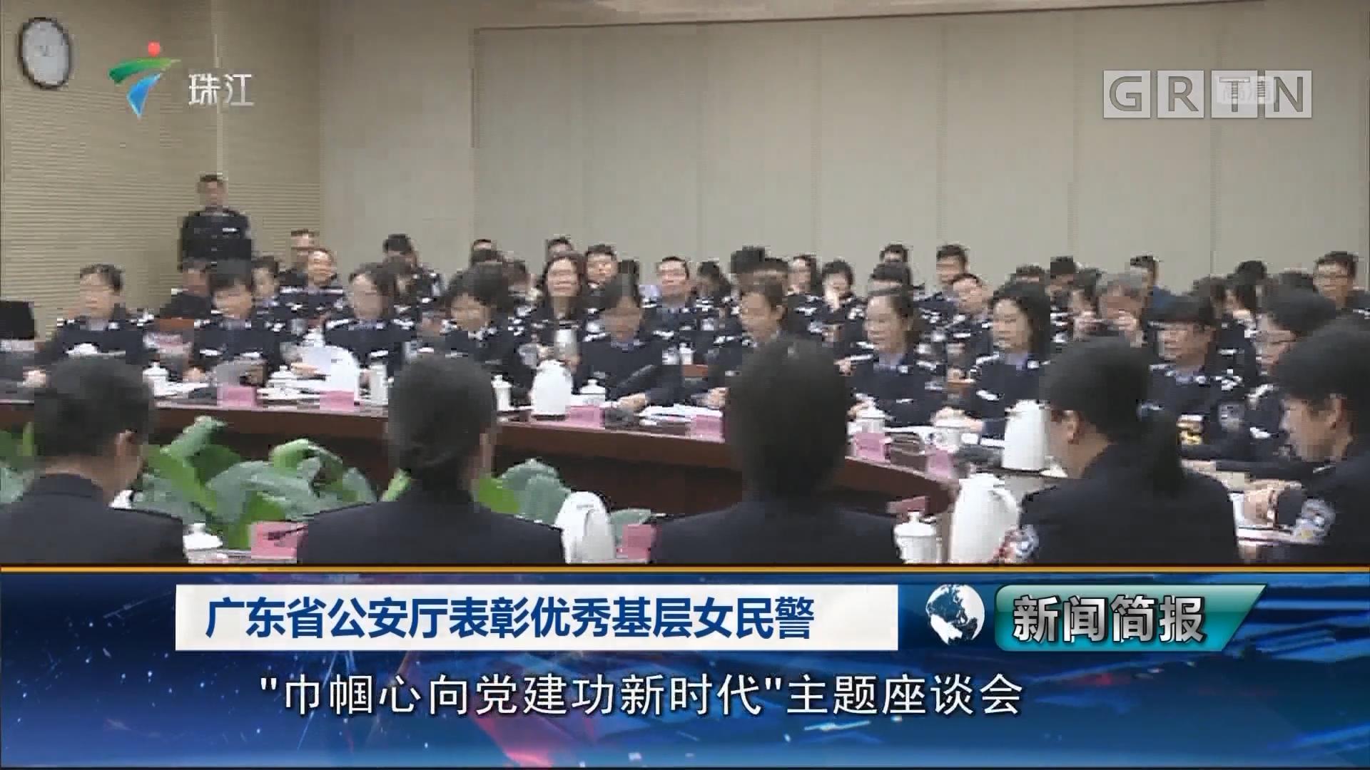广东省公安厅表彰优秀基层女民警