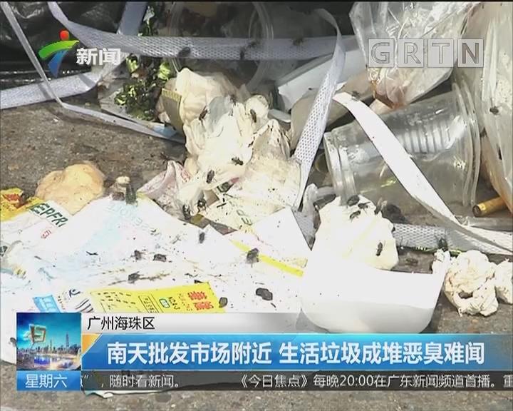 广州海珠区:南天批发市场附近 生活垃圾成堆恶臭难闻