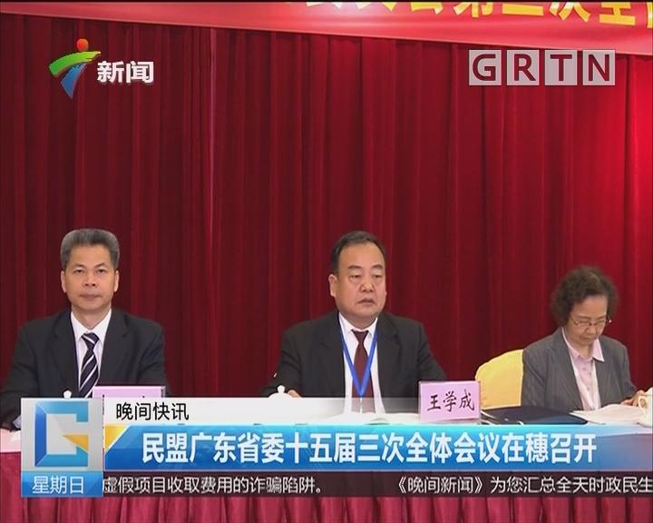 民盟广东省委十五届三次全体会议在穗召开