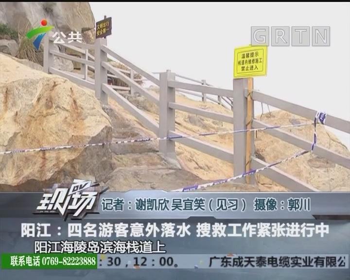 阳江:四名游客意外落水 搜救工作紧张进行中