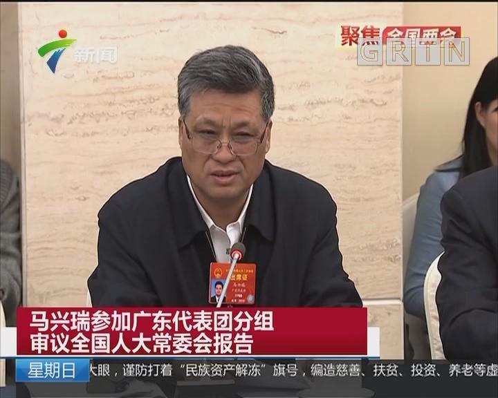 马兴瑞参加广东代表团分组审议全国人大常委会报告