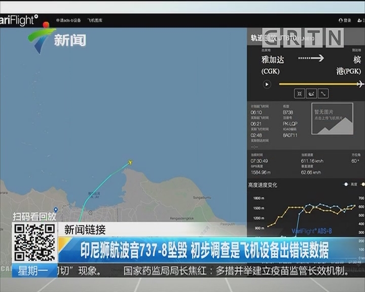 印尼狮航波音737-8坠毁 初步调查是飞机设备出错误数据