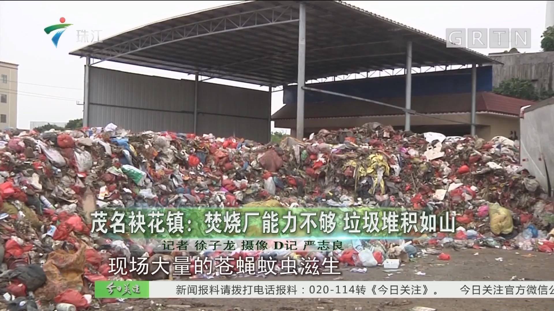 茂名袂花镇:焚烧厂能力不够 垃圾堆积如山