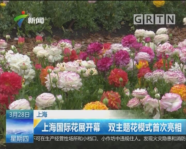 上海:上海国际花展开幕 双主题花模式首次亮相