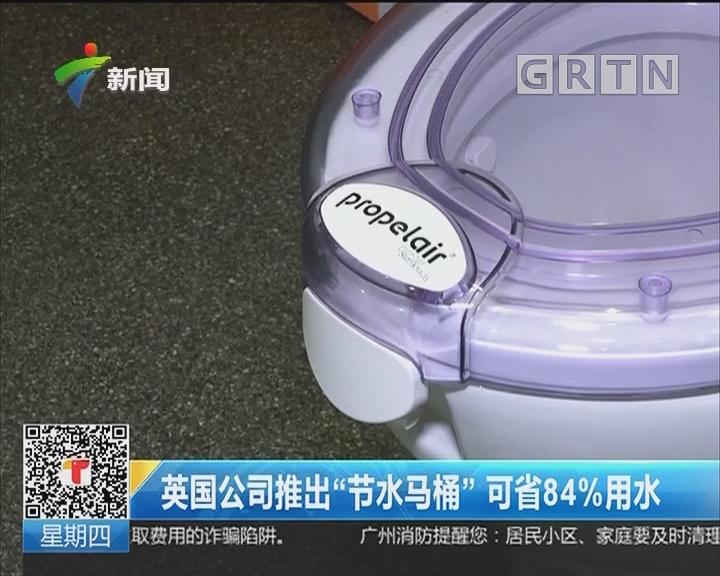 """英国公司推出""""节水马桶""""可省84%用水"""