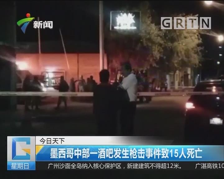 墨西哥中部一酒吧发生枪击事件致15人死亡