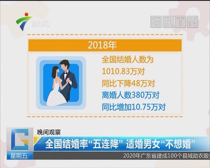 """全国结婚率""""五连降""""适婚男女""""不想婚"""""""