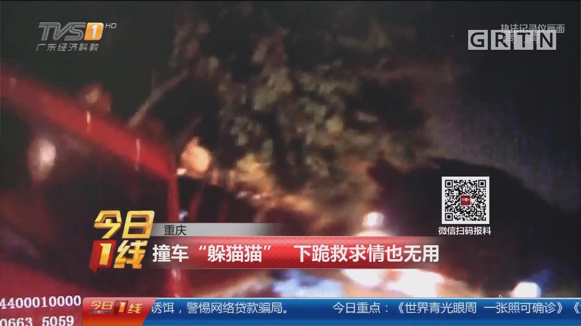 """重庆:撞车""""躲猫猫"""" 下跪救求情也无用"""