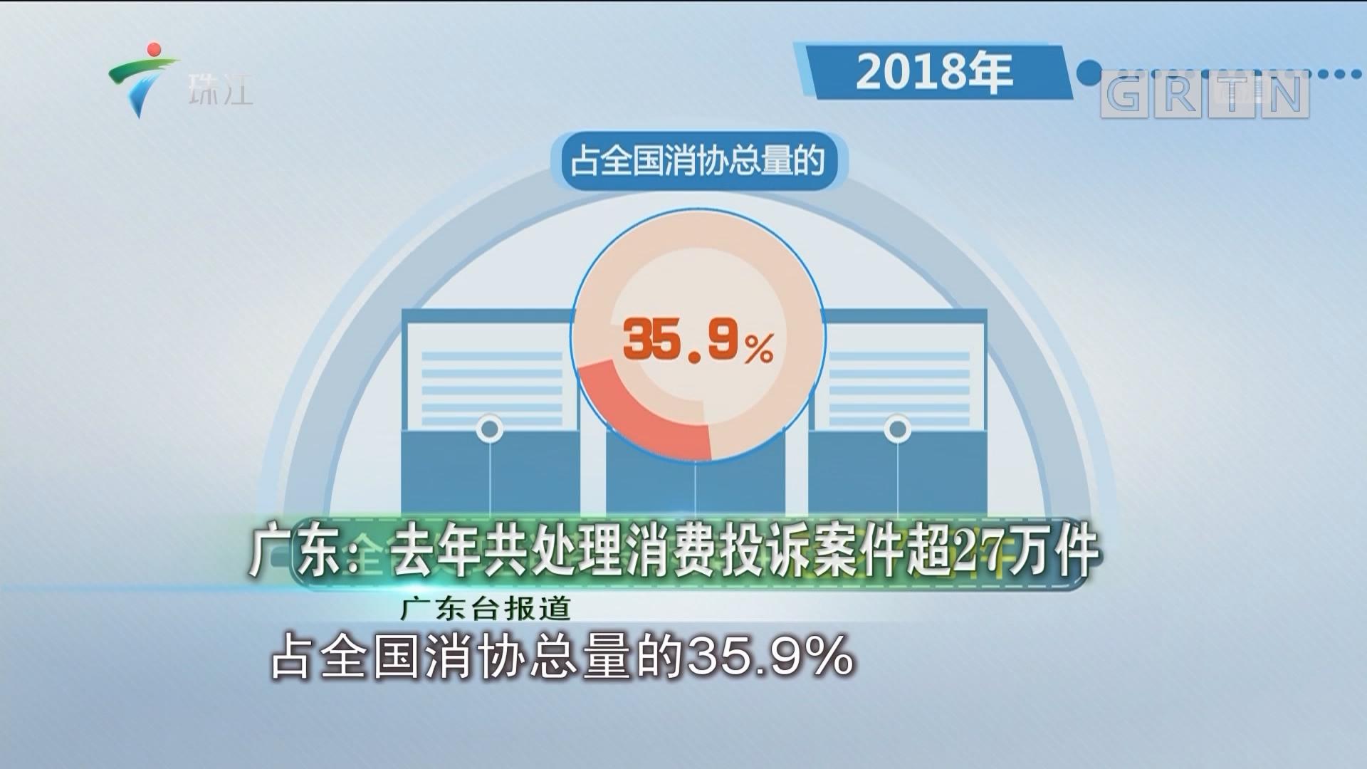 广东:去年共处理消费投诉案件超27万件
