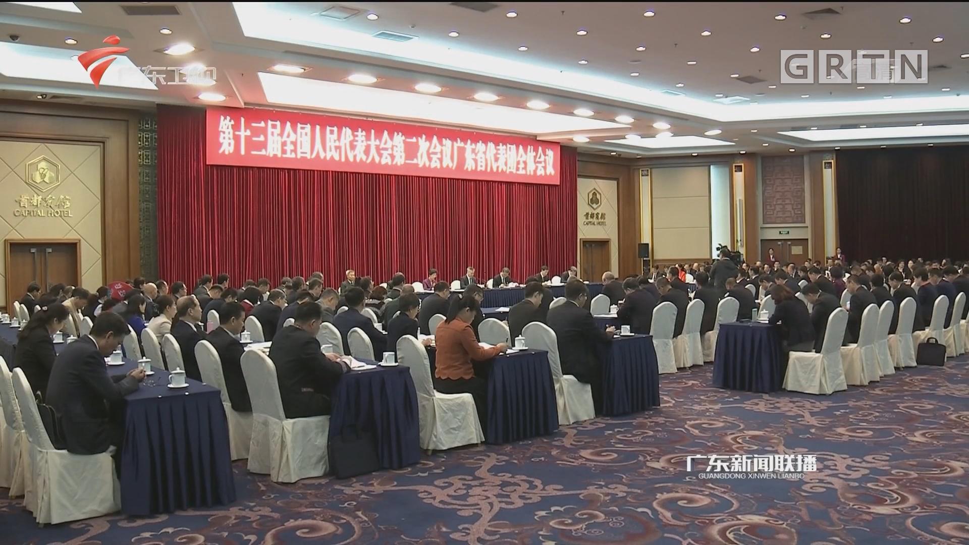 广东代表团举行全体会议 审议政府工作报告