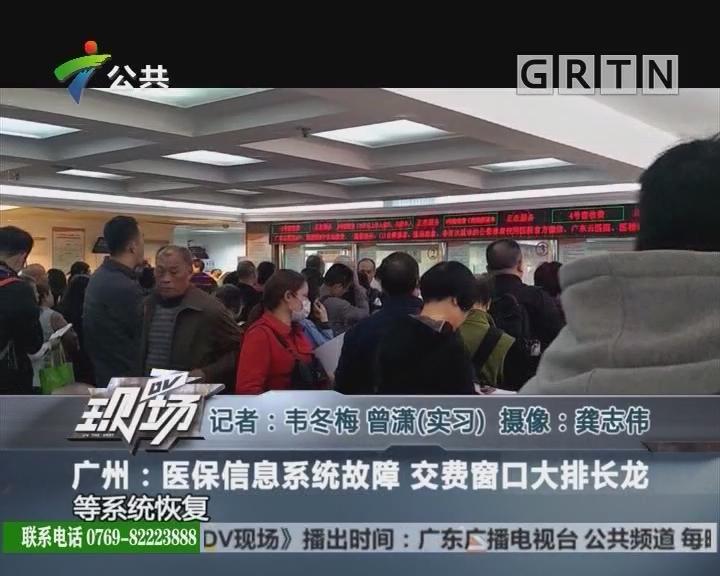 广州:医保信息系统故障 交费窗口大排长龙
