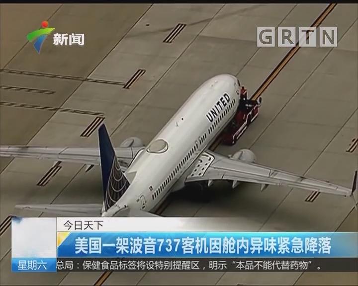 美国一架波音737客机因舱内异味紧急降落