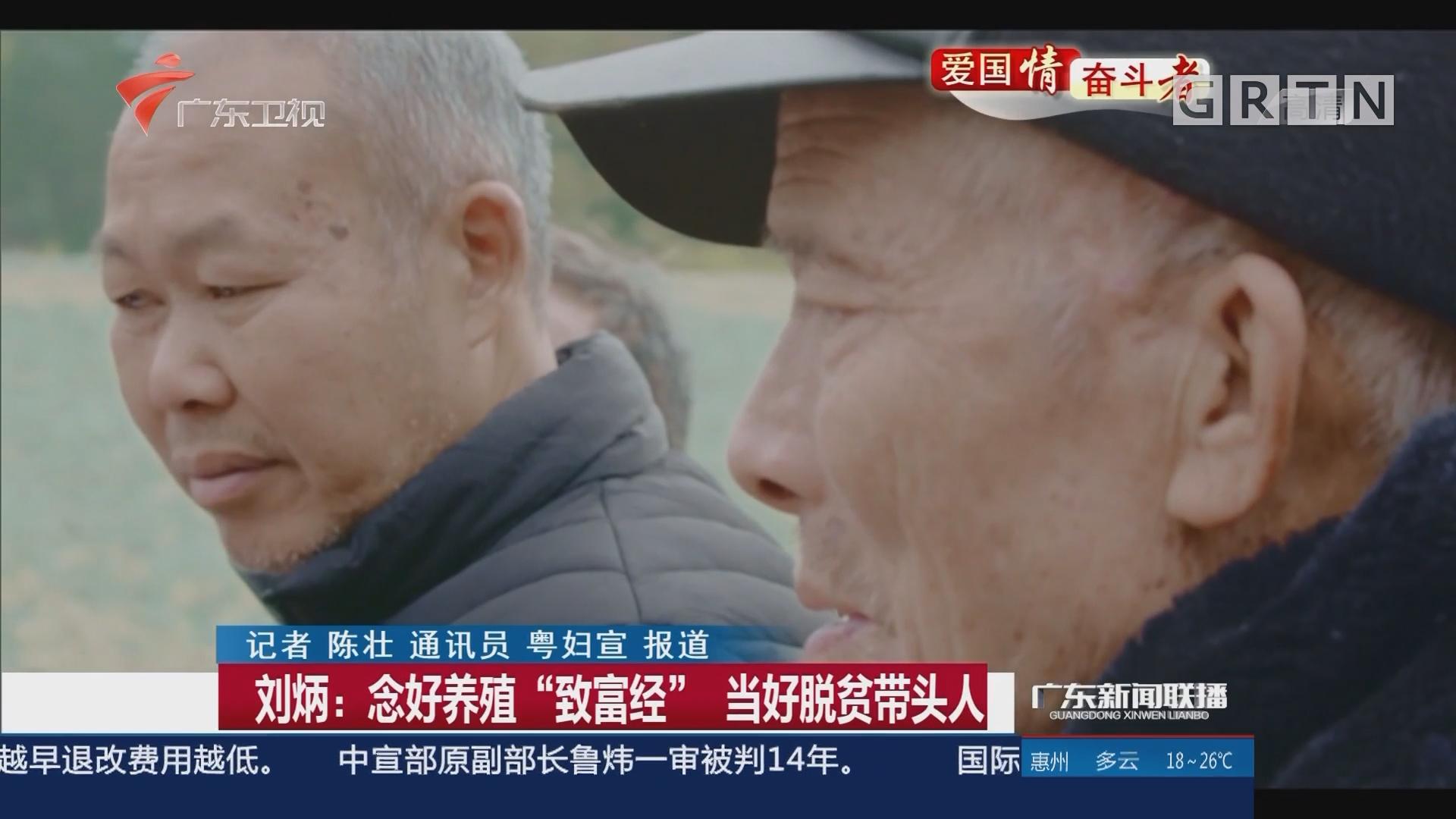 """刘炳:念好养殖""""致富经"""" 当好脱贫带头人"""