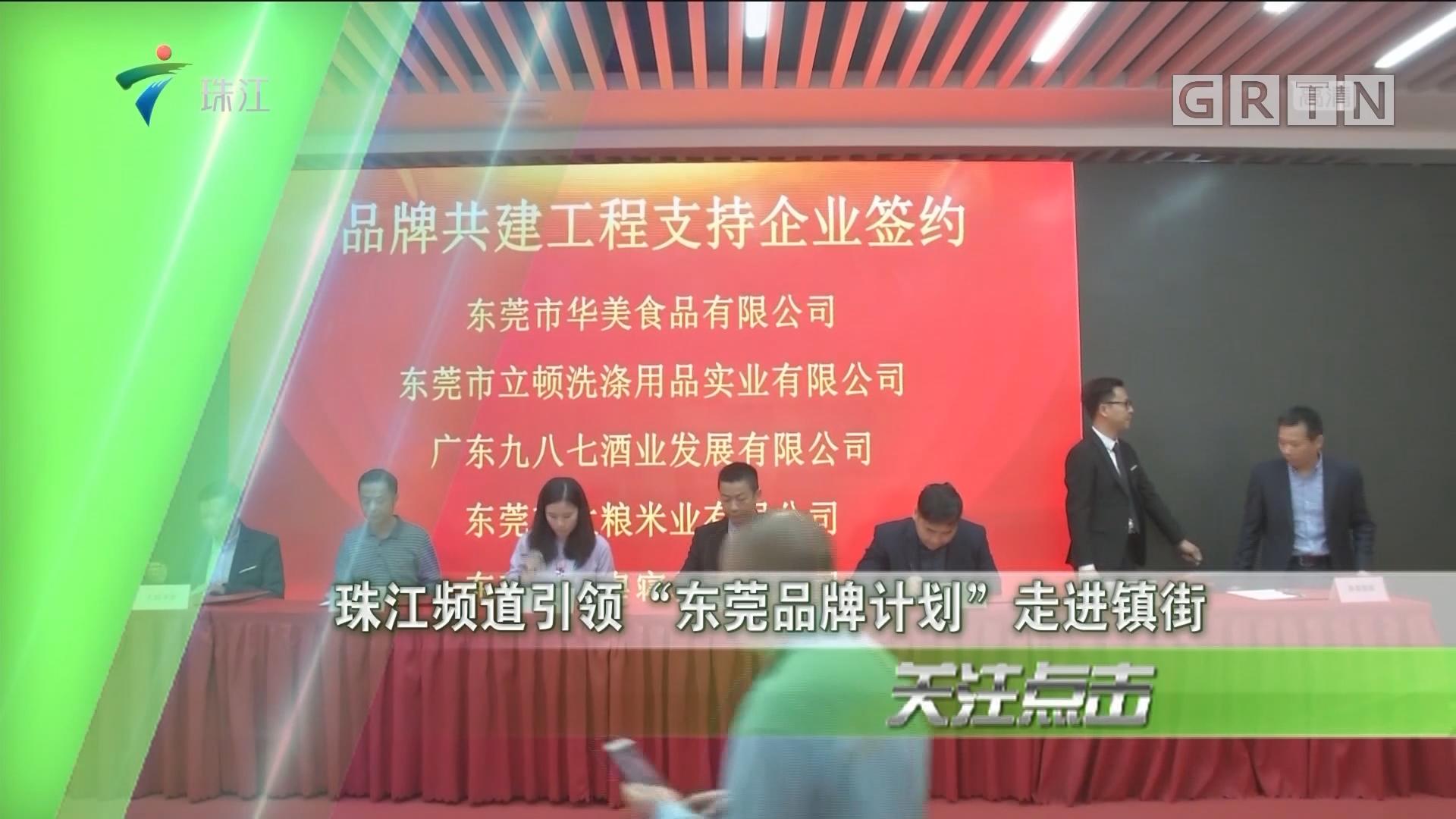 """珠江频道引领""""东莞品牌计划""""走进镇街"""