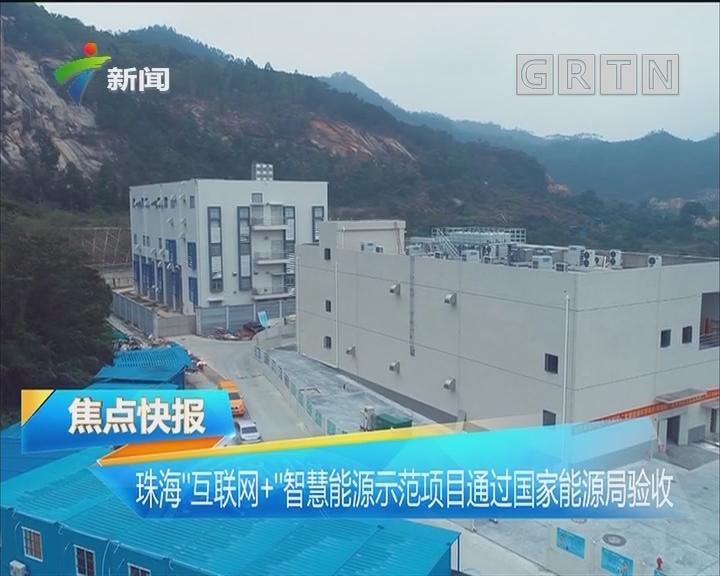 """珠海""""互联网+""""智慧能源示范项目通过国家能源局验收"""