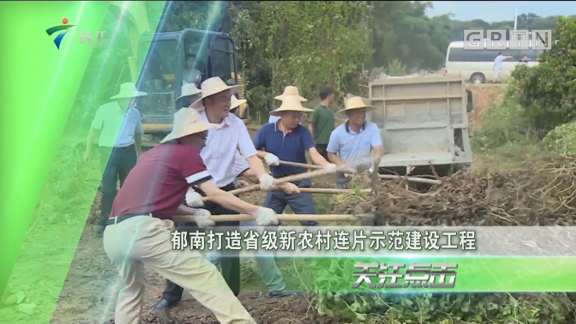郁南打造省级新农村连片示范建设工程