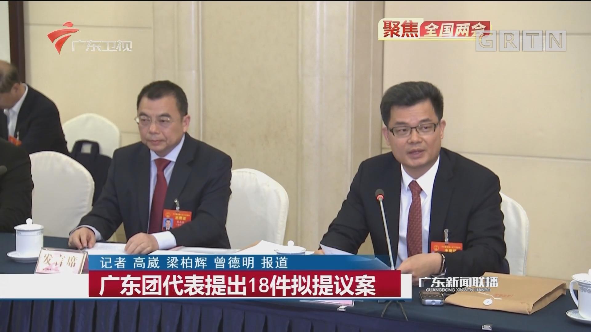 广东团代表提出18件拟提议案