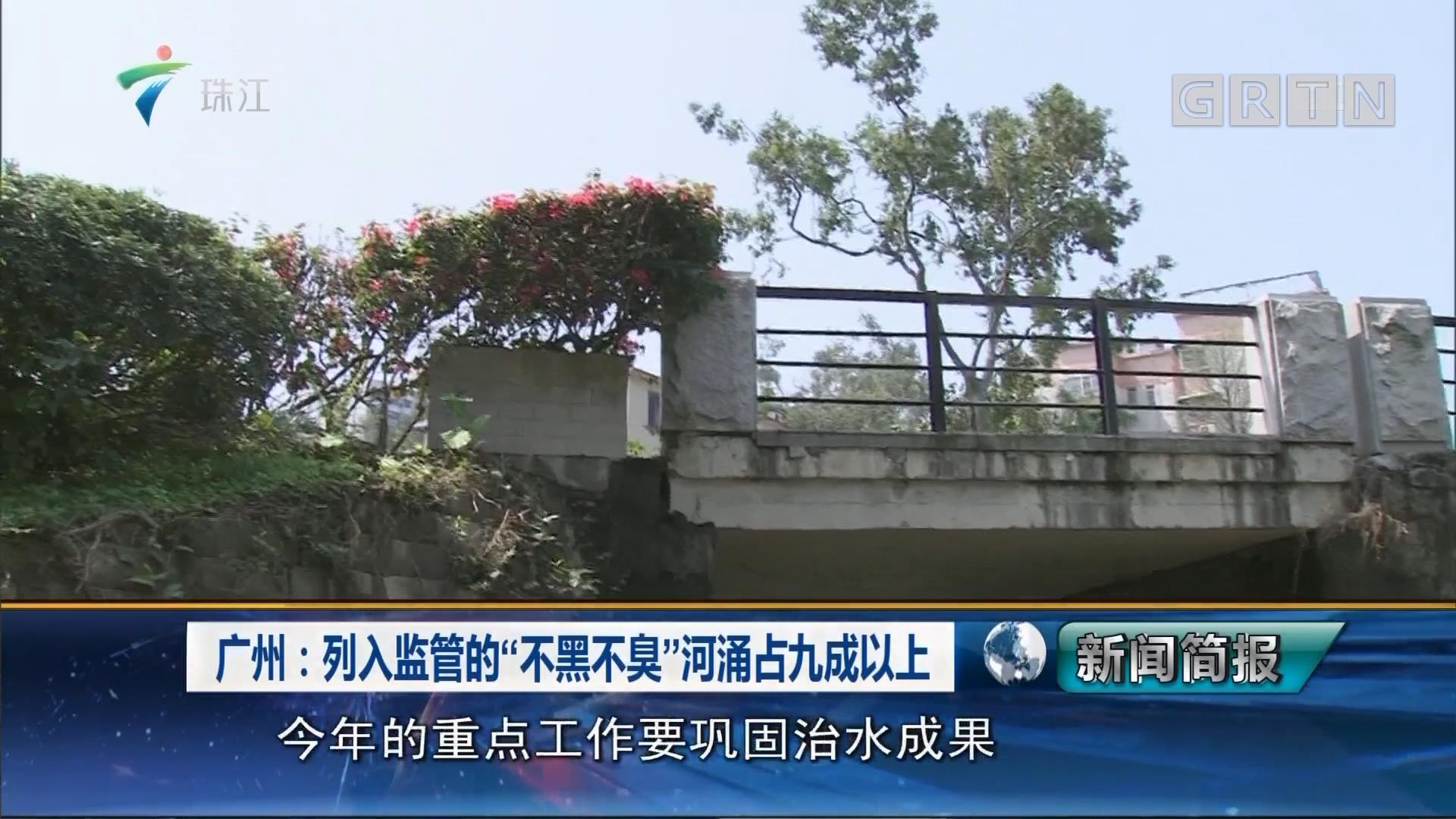 """广州:列入监管的""""不黑不臭""""河涌占九成以上"""