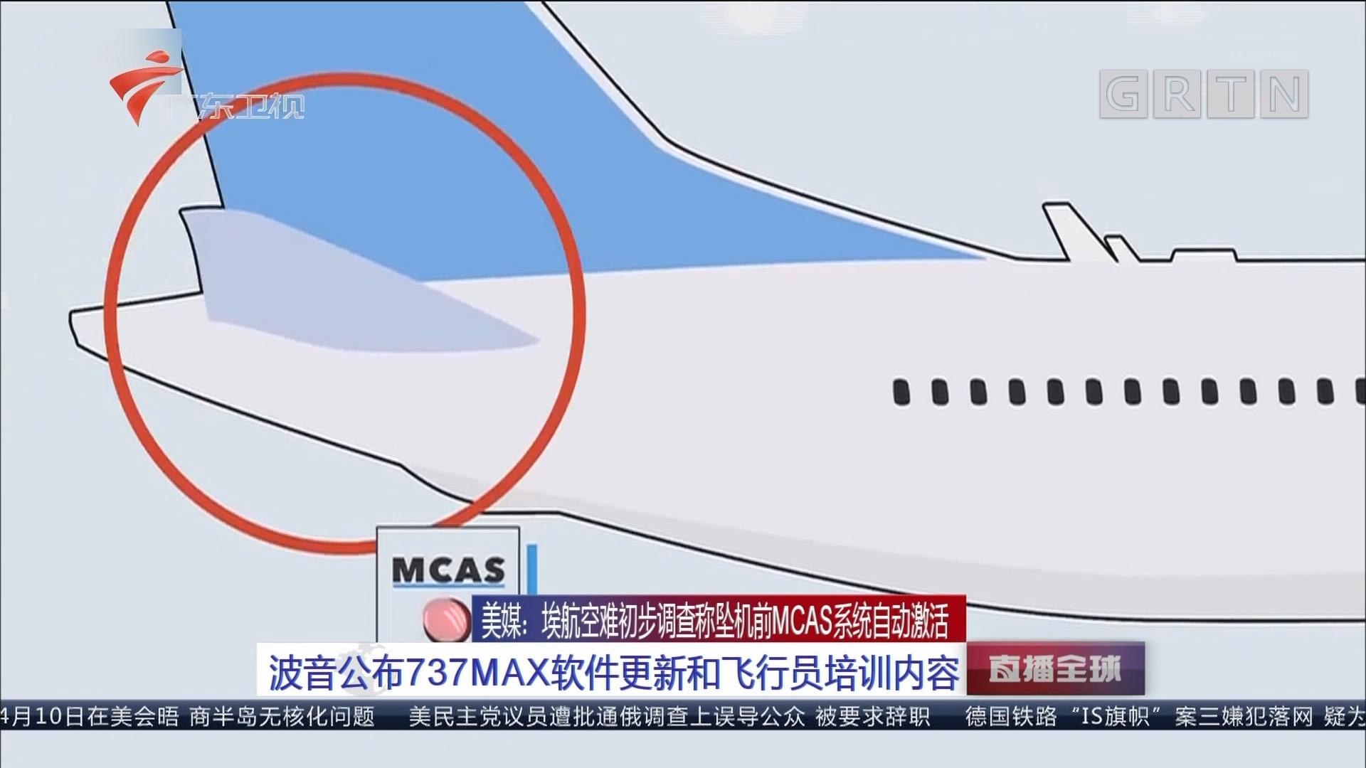 美媒:埃航空难初步调查称坠机前MCAS系统自动激活 初步结论基于对黑匣子数据研究
