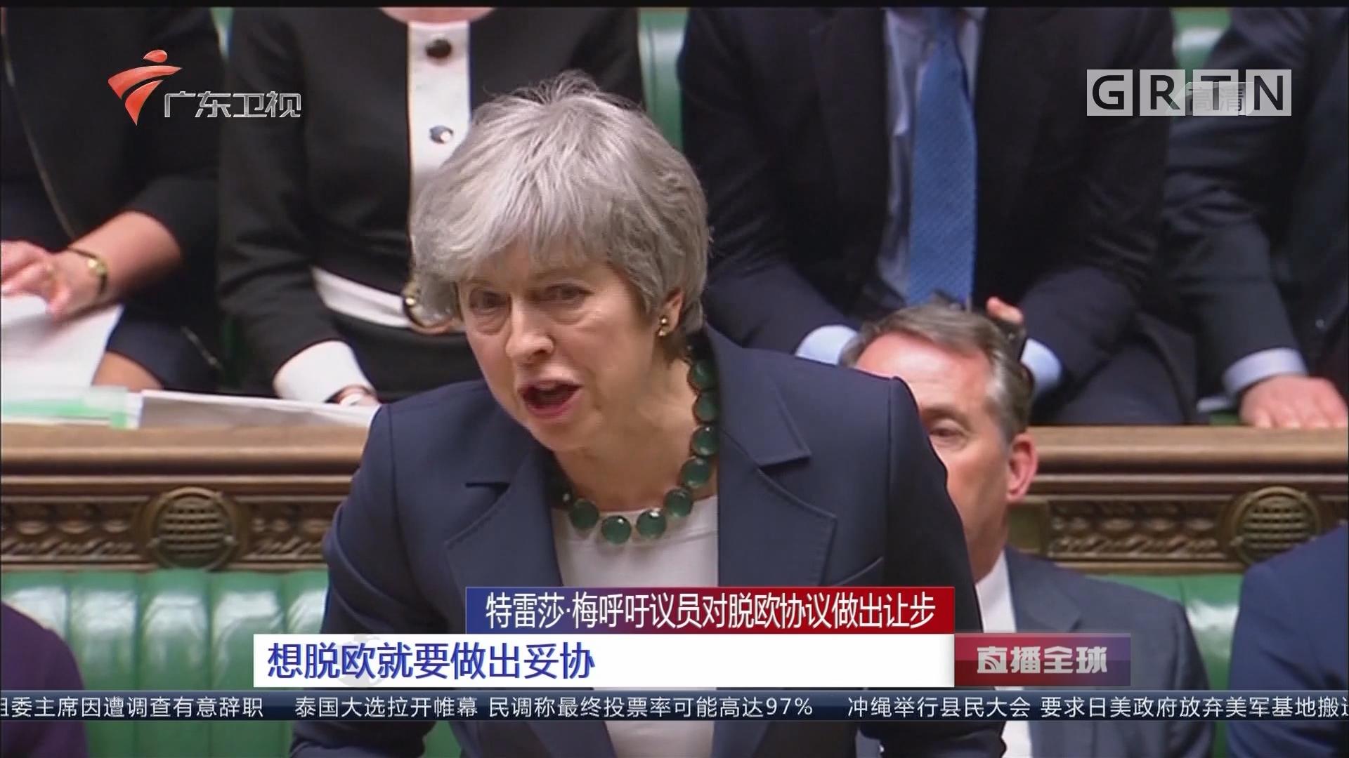 特蕾莎·梅呼吁议员对脱欧协议做出让步:想脱欧就要做出妥协