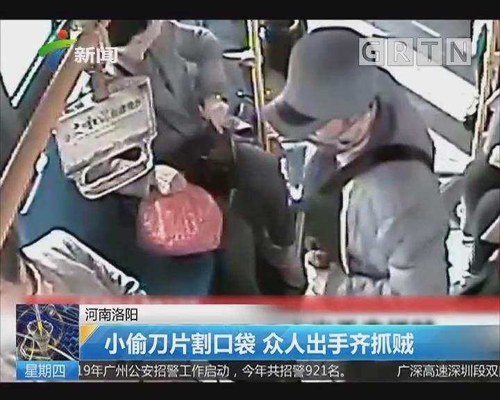 河南洛阳:小偷刀片割口袋 众人出手齐抓贼