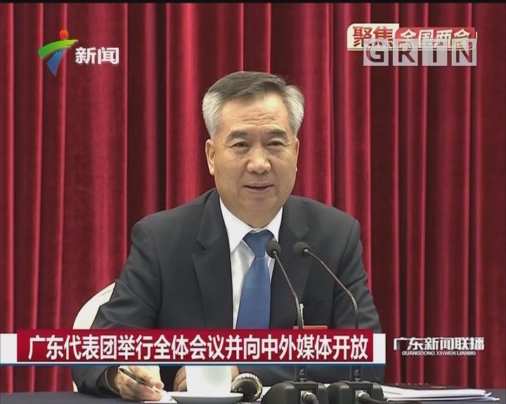 广东代表团举行全体会议并向中外媒体开放
