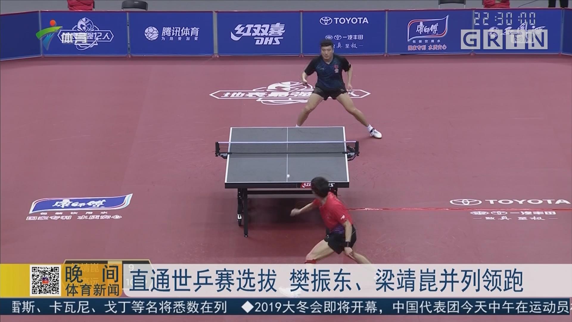 直通世乒赛选拔 樊振东、梁靖崑并列领跑