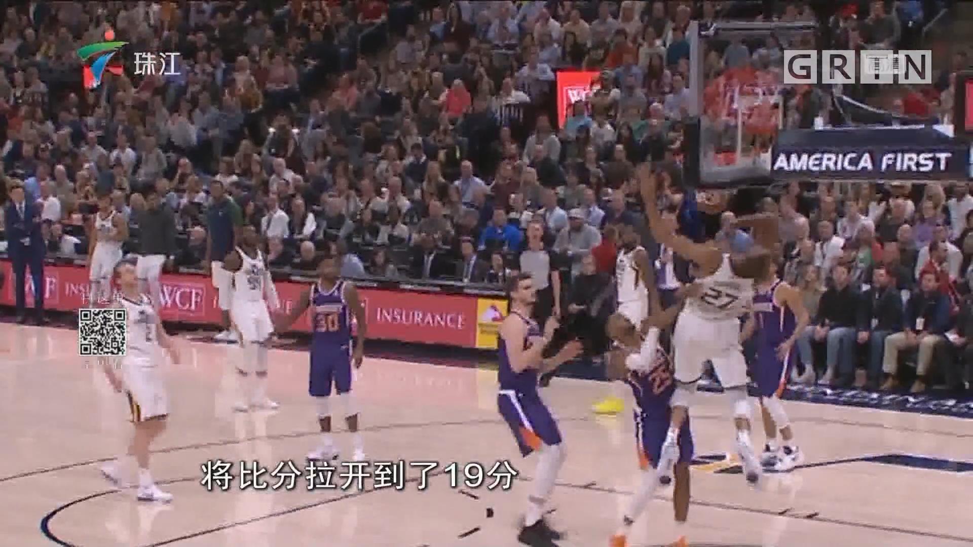 NBA:布克59分 无奈太阳惨败爵士