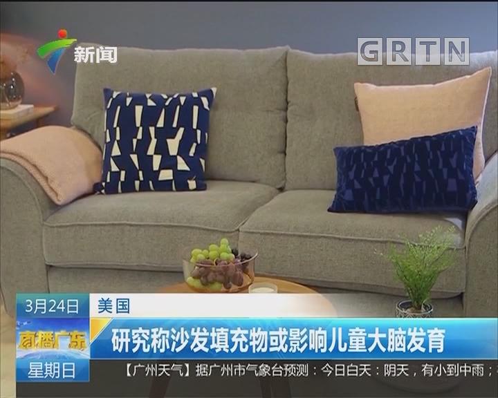 美国:研究称沙发填充物或影响儿童大脑发育