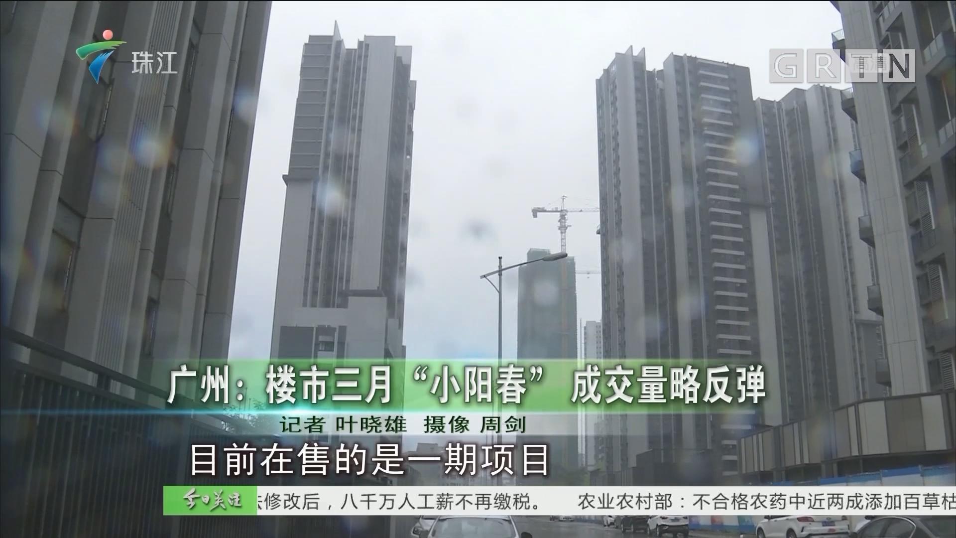 """广州:楼市三月""""小阳春"""" 成交量略反弹"""