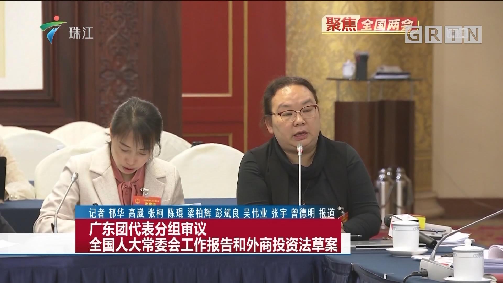 广东团代表分组审议全国人大常委会工作报告和外商投资法草案