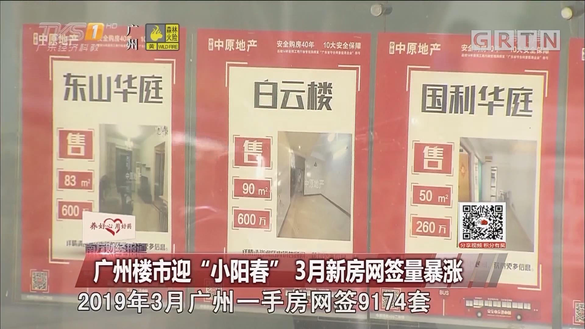 """广州楼市迎""""小阳春"""" 3月新房网签量暴涨"""