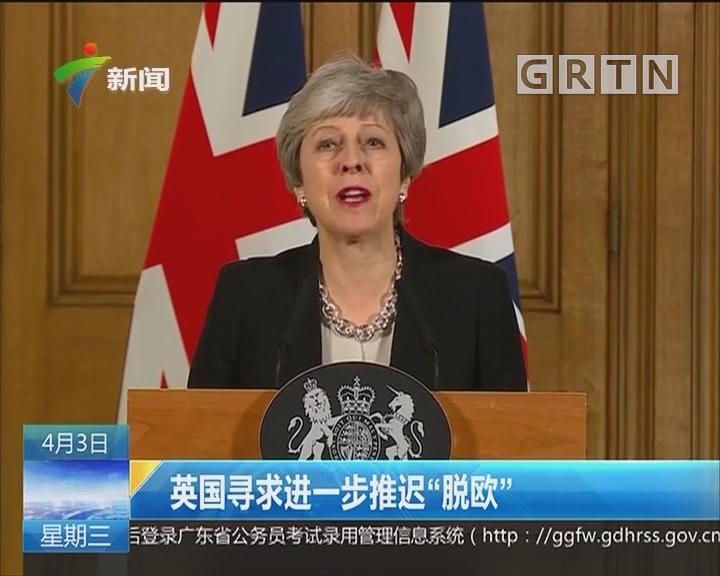 """英国寻求一步推迟""""脱欧"""""""