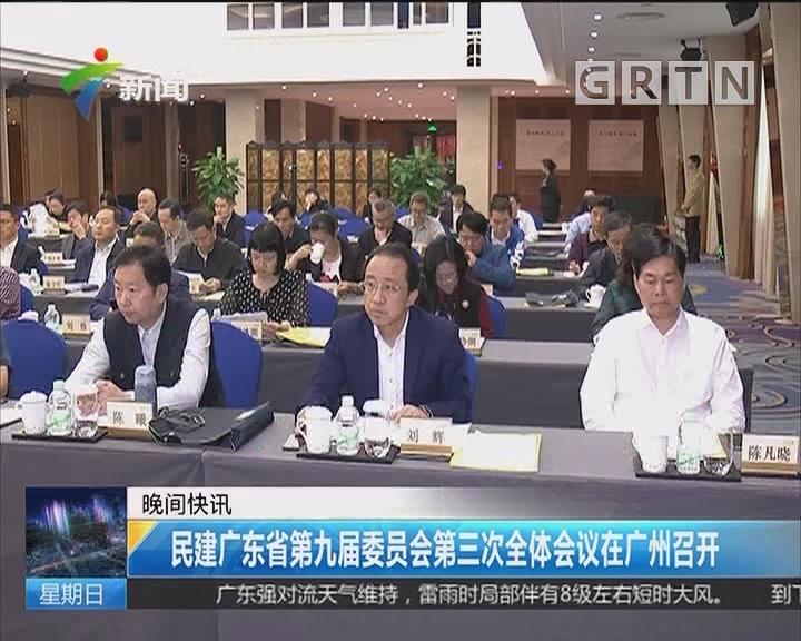 民建广东省第九届委员会第三次全体会议在广州召开