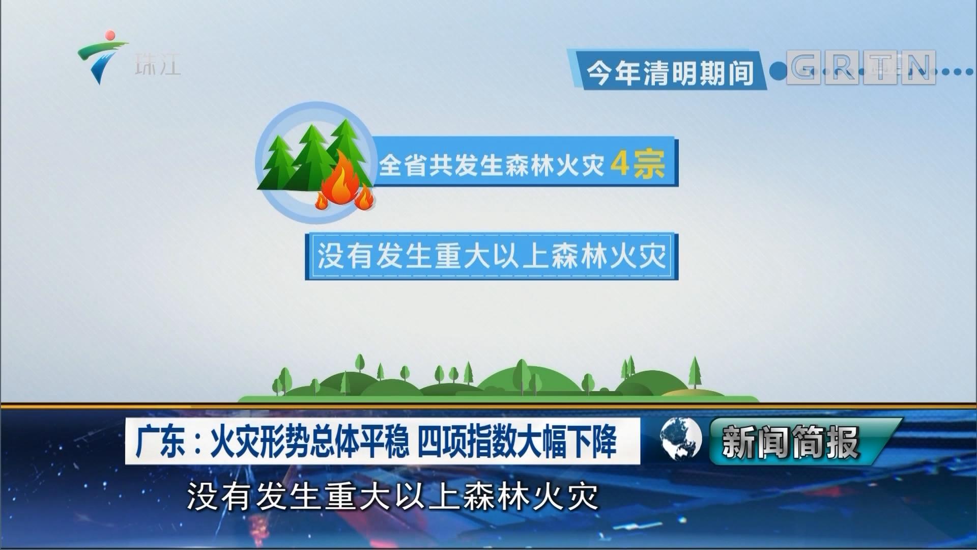 广东:火灾形势总体平稳 四项指数大幅下降
