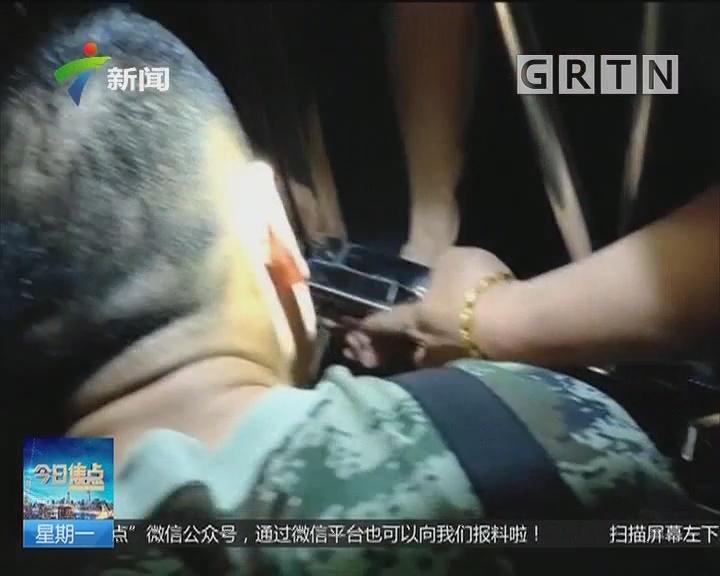 肇庆德庆:手指误卡门把插销 消防巧妙营救