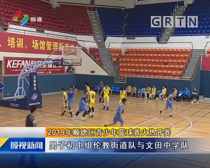 2019年顺德区青少年篮球赛火热开赛
