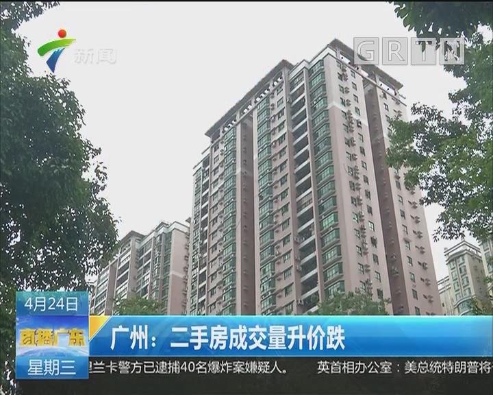 广州:二手房成交量升跌价