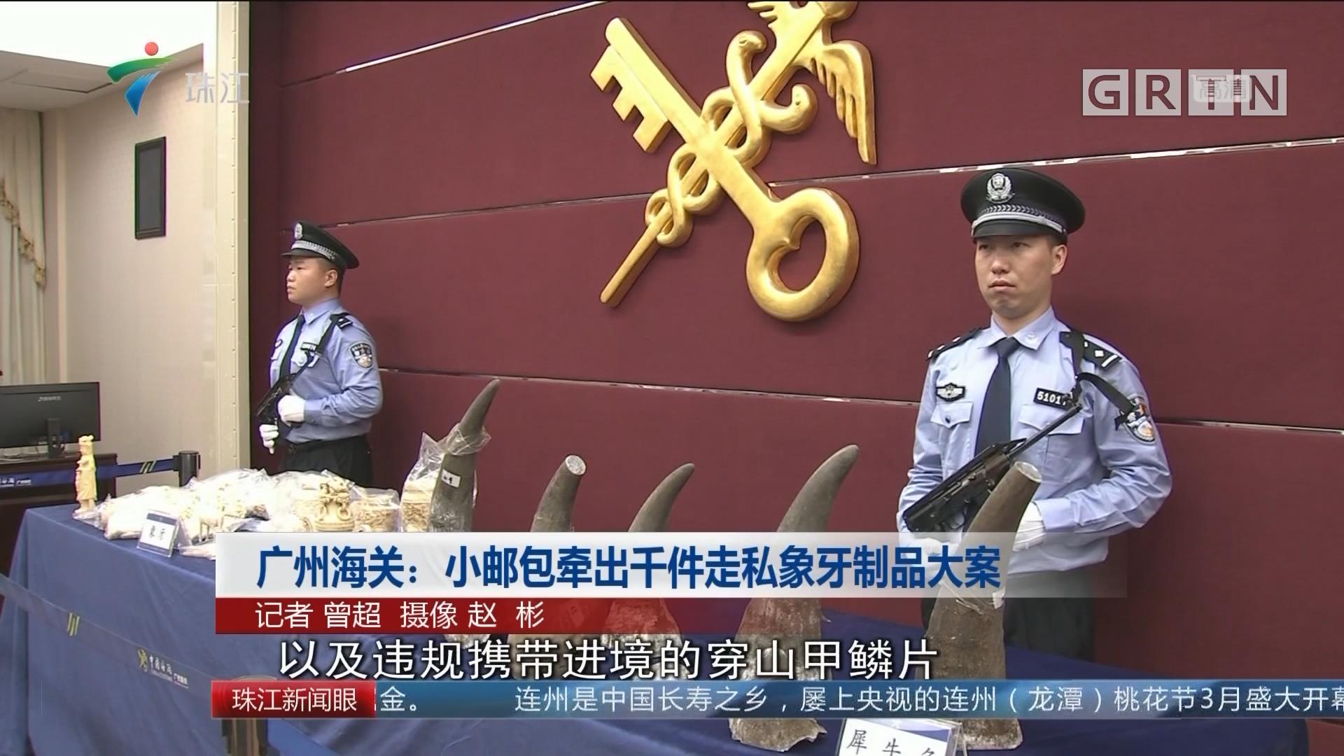 广州海关:小邮包牵出千件走私象牙制品大案