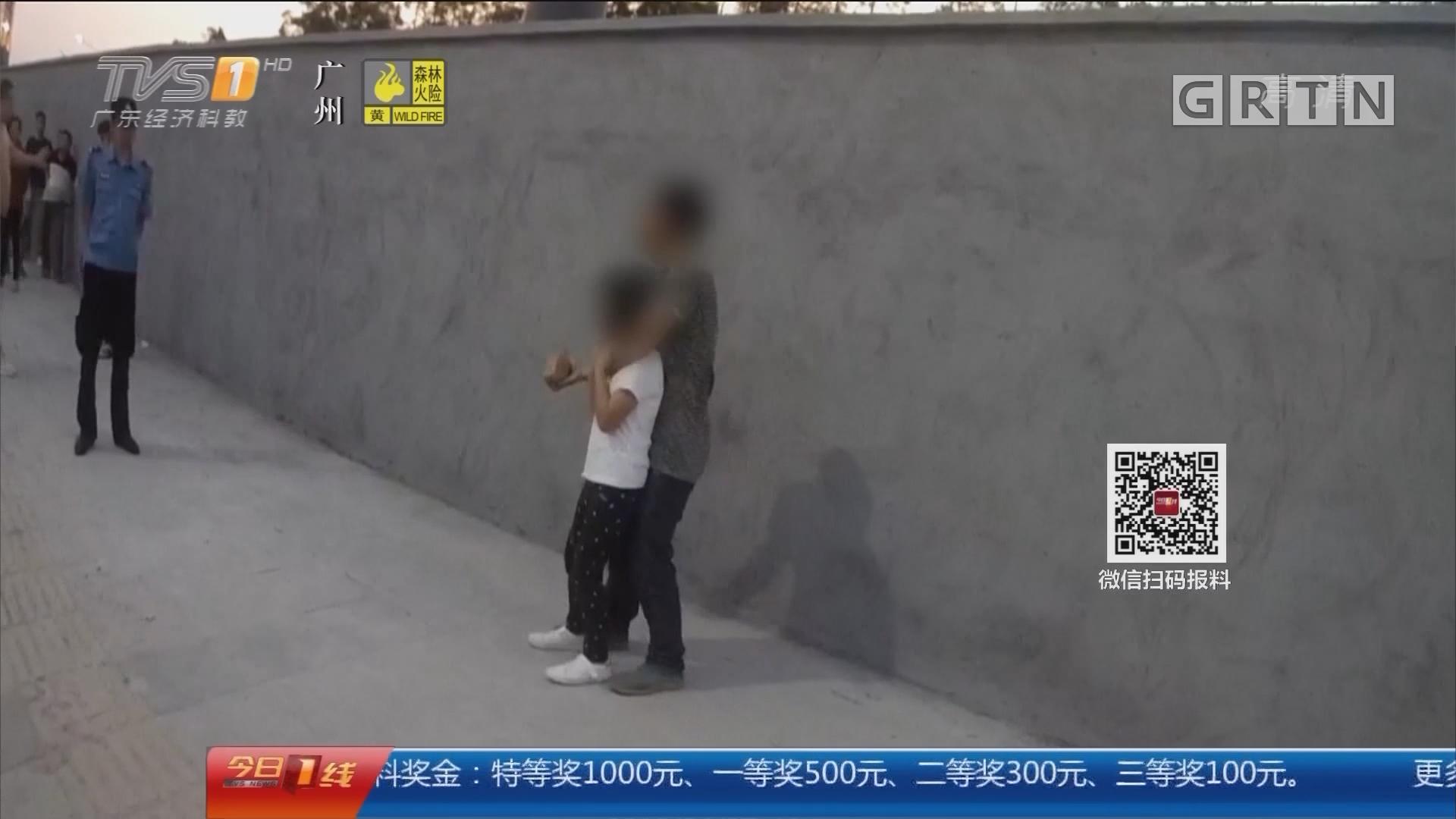 东莞万江:男子手持砖头劫持女孩 警方成功解救