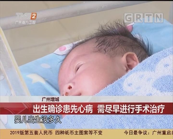 广州增城:出生确诊患先心病 需尽早进行手术治疗