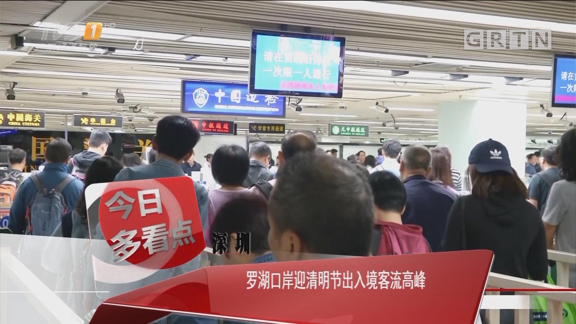 深圳:罗湖口岸迎清明节出入境客流高峰