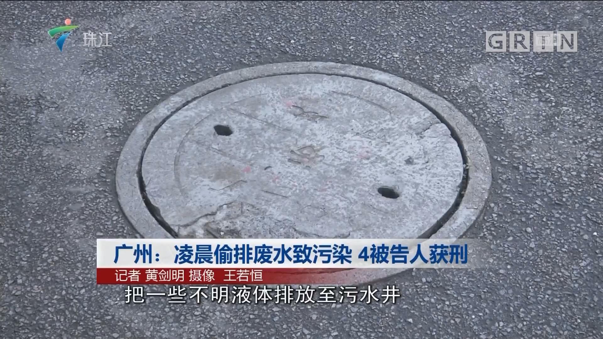 广州:凌晨偷排废水致污染 4被告人获刑