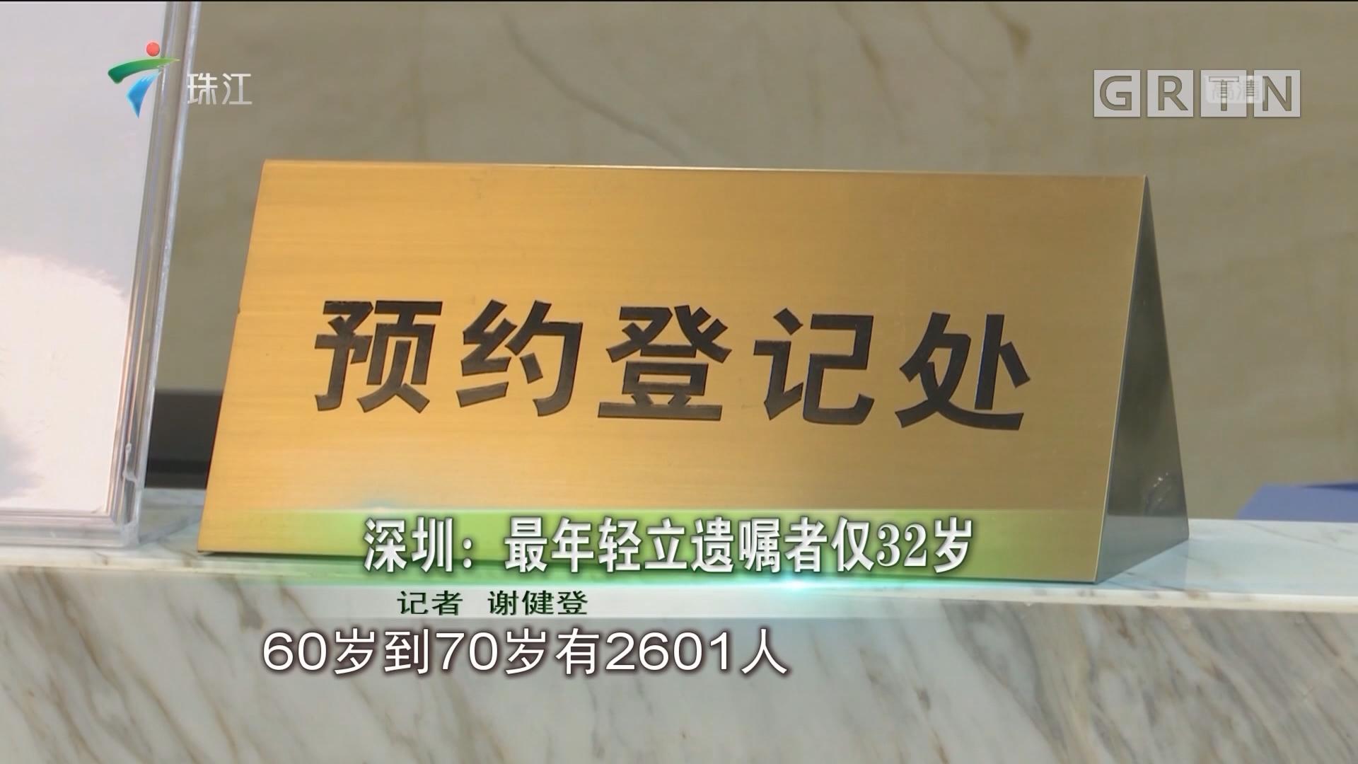 深圳:最年轻立遗嘱者仅32岁
