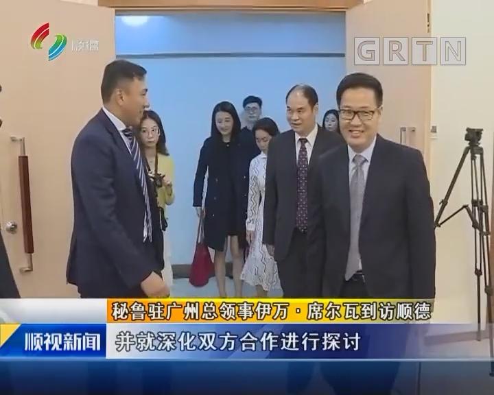 秘鲁驻广州总领事伊万·席尔瓦到访顺德