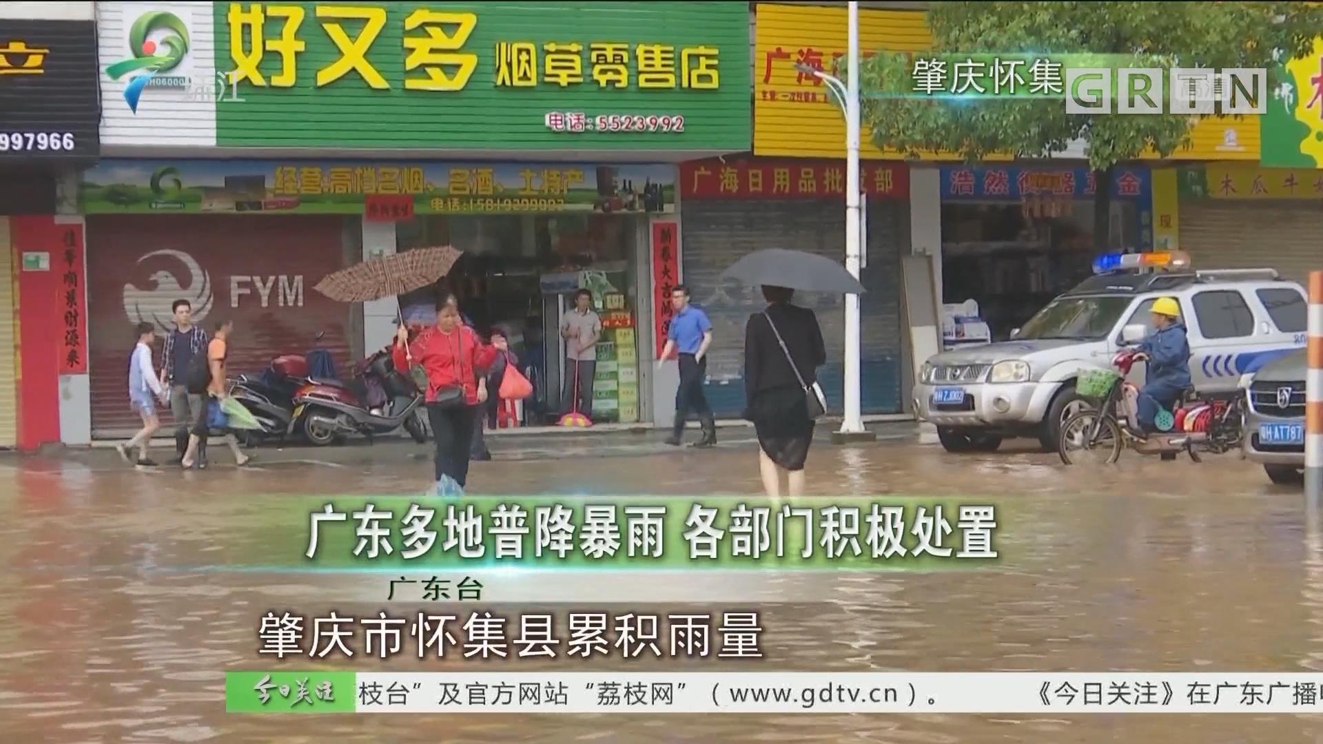 广东多地普降暴雨 各部门积极处置