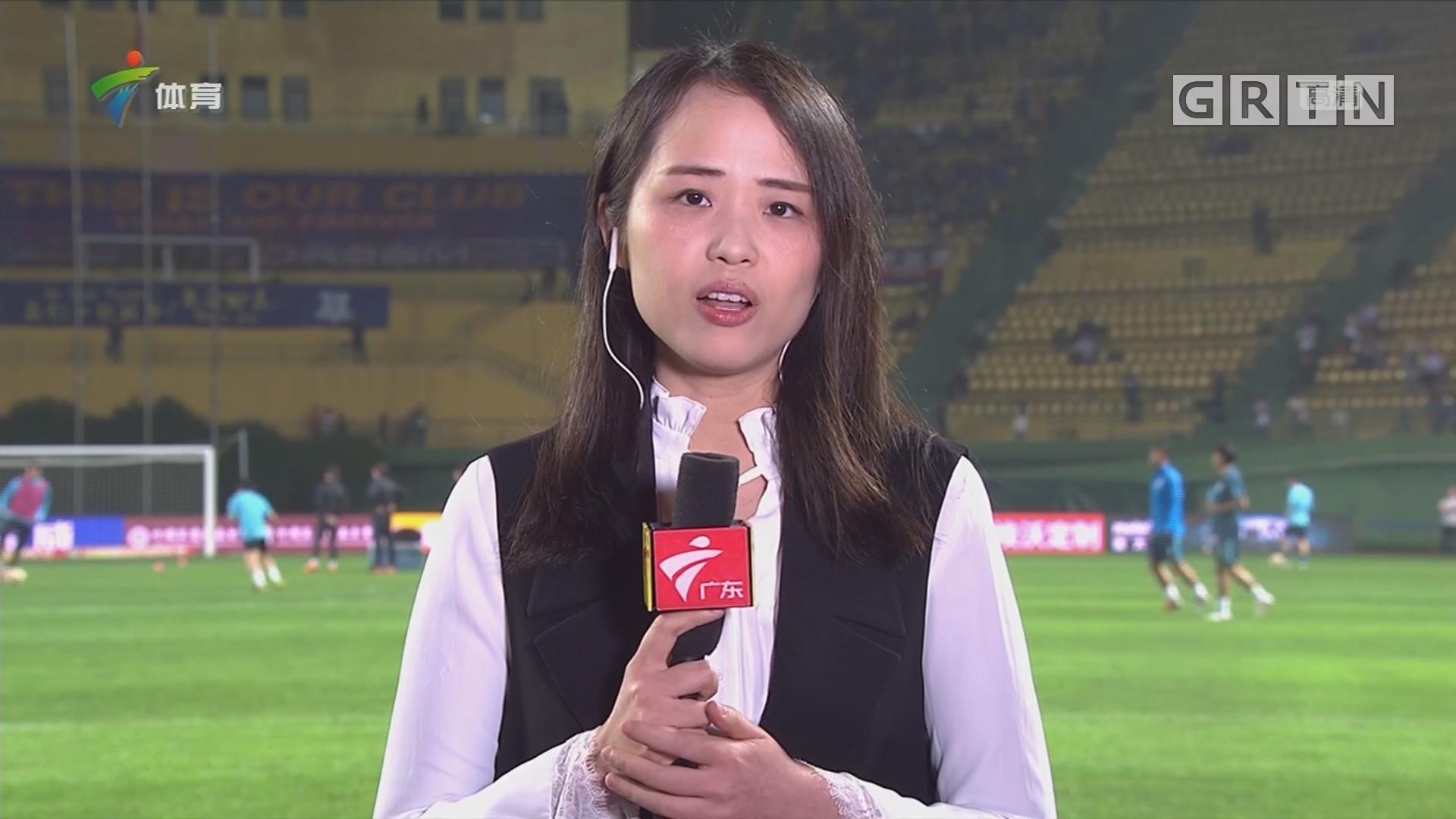 记者连线:广州富力vs上海绿地申花最新情况
