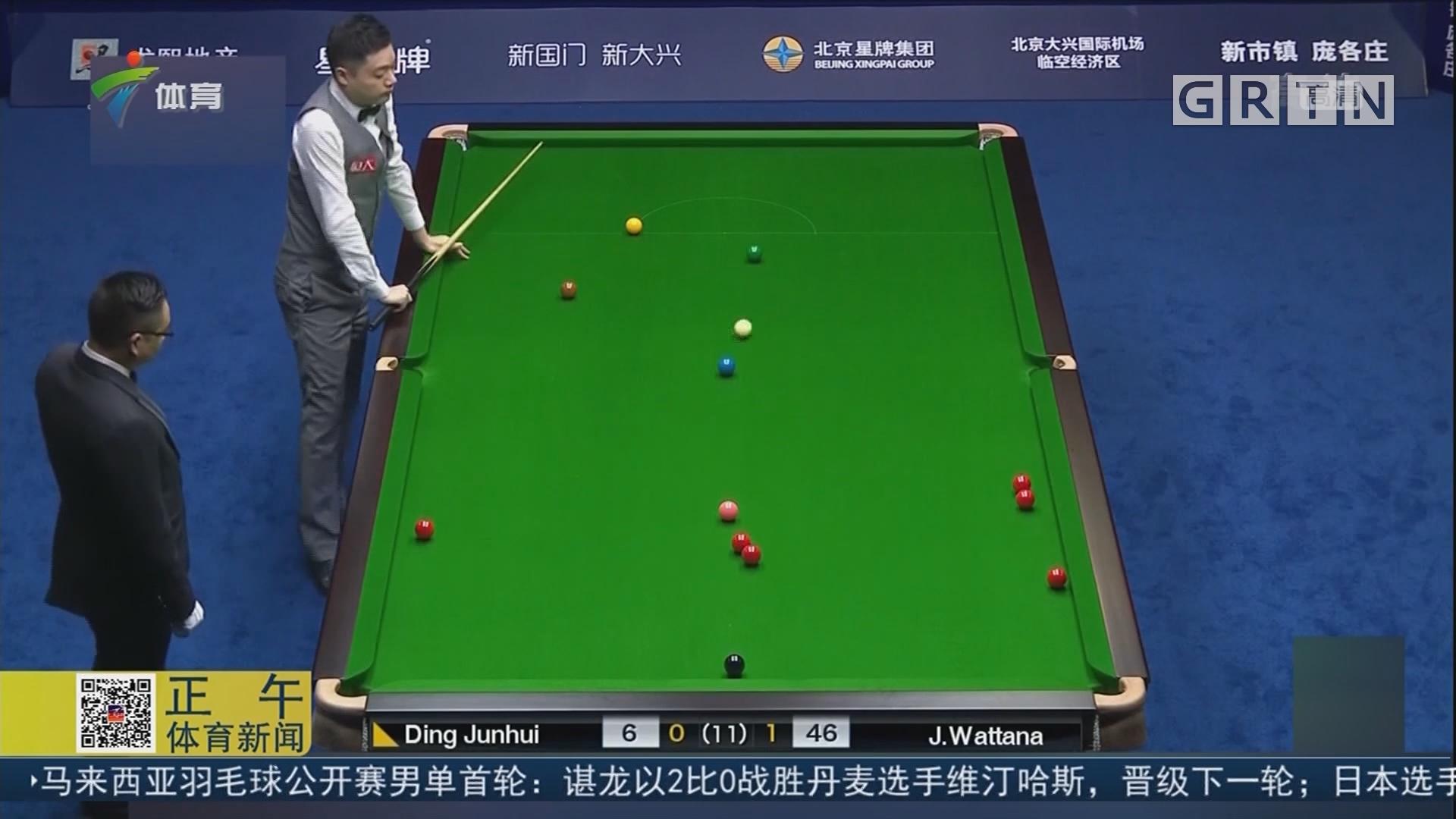 斯诺克中国赛 丁俊晖不敌瓦塔纳首轮出局